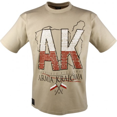 """Tshirt """"Armia Krajowa"""" Sand"""