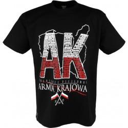 """Koszulka""""Armia Krajowa"""" Black"""
