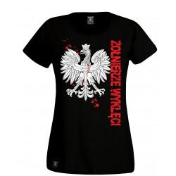 """Tshirt damski """"Godło-Żołnierze Wyklęci"""""""