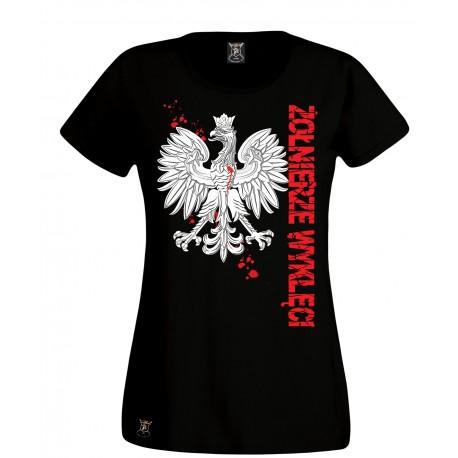 """Koszulka damska """"Godło-Żołnierze Wyklęci"""""""