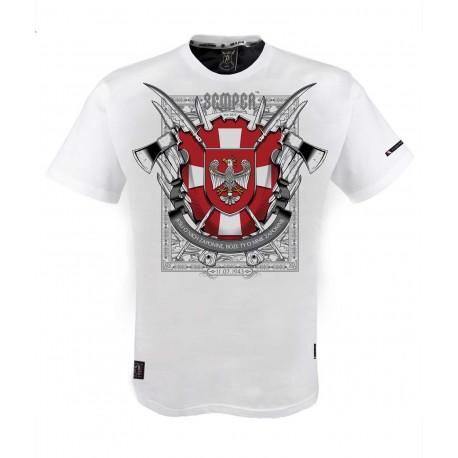 """Koszulka """" Krzyż Wołyński White"""""""