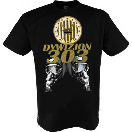 """Koszulka """"Dywizjon 303"""" Nowość złoty mieniący się nadruk !"""